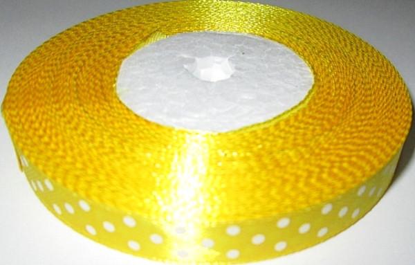Лента в Горошек 1 см/23 м, желтая