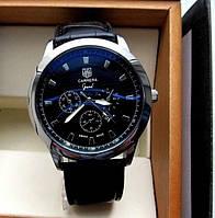 Изысканные новомодные мужские кварцевые наручные часы Tag Heuer Carrera. Стильный дизайн. Дешево. Код: КГ2955