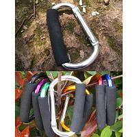 AOTU AT7607 D-образный карабин пряжка для кемпинга на открытом воздухе быстрый выпуск Серебристый