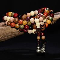 Разноцветные деревянные четки