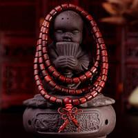 Буддийские четки из красного дерева