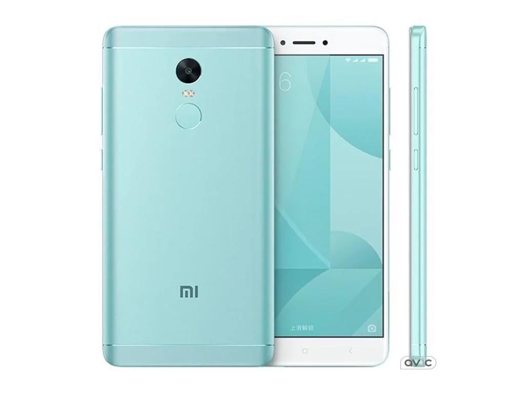 "Смартфон Xiaomi Redmi Note 4X Green, 3/32Gb, 8 ядер, 13/5Мп, 5.5"" IPS, 2 SIM, 4G, 4100мАh, Android 6.0"