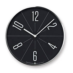 Настенные Часы Awa Гугу черный циферблат серебряный корпус