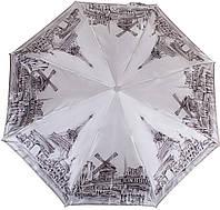 Качественный женский зонт полный автомат Zest Z23744-3467, серый, система Антиветер