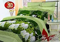 Постельное белье полуторное полисатин 3D Ландыши