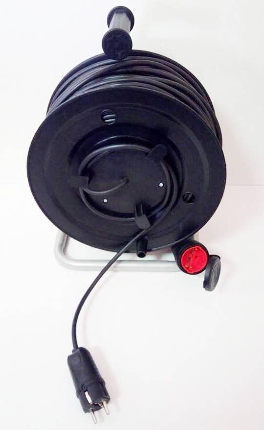 Удлинитель на катушке с выносной розеткой 25м (2х1,5) 3 кВт
