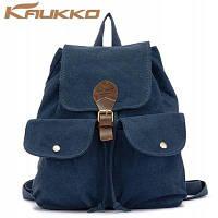 KAUKKO FJ17 22L повседневный стиль женский рюкзак из холста Синий