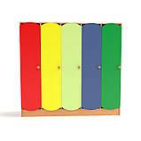 Дитячий шафа 5-ти секційний з кольоровими дверцятами. Шафи для роздягалень в дитячий садок, фото 2