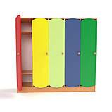 Дитячий шафа 5-ти секційний з кольоровими дверцятами. Шафи для роздягалень в дитячий садок, фото 4