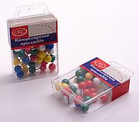 Кнопки канцелярські, декоративні, 40 шт.