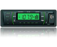 Автомагнітола на USB флешці, зелена підсвітка STL-302