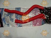 Патрубоки печки ВАЗ 2123 Нива Шевроле ТЮНИНГ силиконовые (армированные) красные (комплект 2шт) (пр-во Россия)