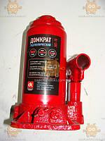 Домкрат 10т гидравлический красный H=200/385мм (пр-во ДК)