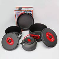 ALOCS CW-C06S набор посуды с складной ручкой семь-шт Титан серый