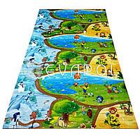 Детский коврик большой игровой с рисунком Мультики 2000*1200*8 мм