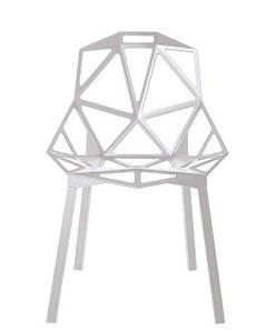 Стул Chair_One белые с ногами покрашенными в белый цвет