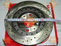 Диск тормозной ВАЗ 2110 - 2112 R14 СПОРТ! (2шт) (вентиляция + перфарация + канавки) (пр-во Aurora Польша)