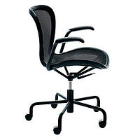 Кресло на колесиках Annett, весь черный