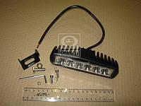 Фара LED прямокутна 18W, 6 ламп, 159,8*54,2мм, вузький луч 12/24В (ТМ JUBANA)