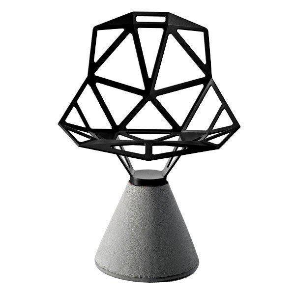 Стул Chair_One на бетонном основании вращающиеся черные