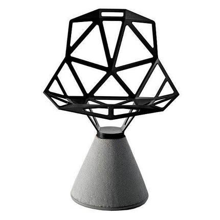Стул Chair_One на бетонном основании вращающиеся черные, фото 2