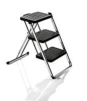 Лестница Nuovastep хромированная рама, черные ступени