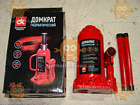 Домкрат бутылочный 10т, красный H=200/385мм (пр-во ДК Украина)