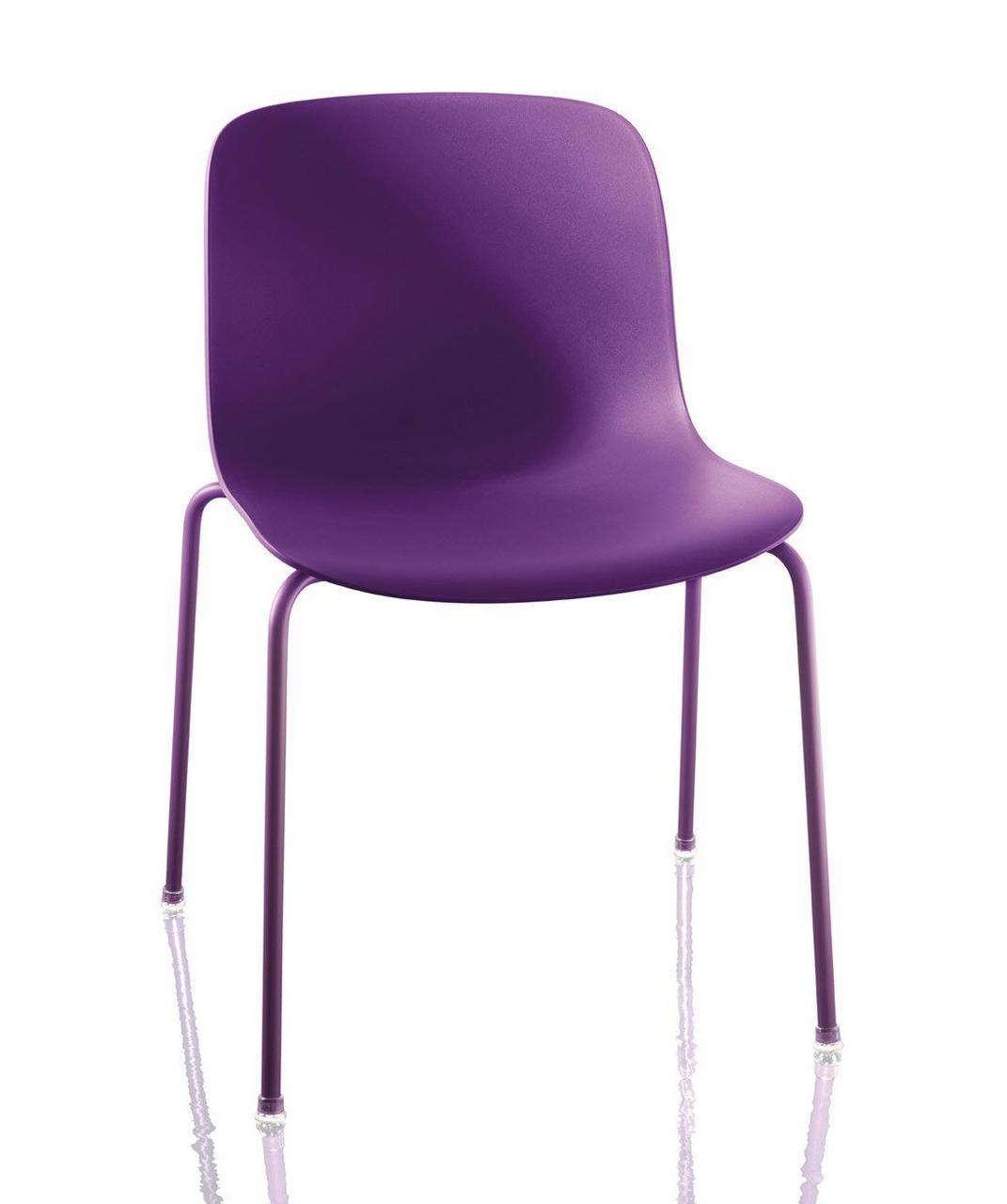 Стул Троя (Полипропилен лакированная рама фиолетовый сиденье