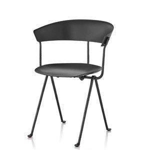 Стул Officina черные ноги, черное сиденье и спинка, фото 2