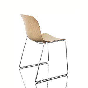 Стул Троя сиденье из фанеры, хромированная рама натуральный бук, фото 2