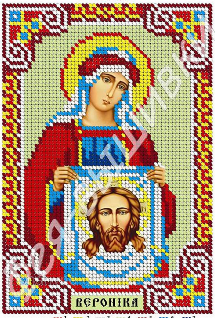 """Схема для вышивки бисером икона """"Святая Вероника"""" (полная зашивка)"""