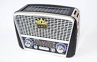 Радиоприемник от сети с USB, SD и с аккумулятором и солничной батареей GOLON