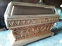 Гробница дубовая, резьба из липы (на заказ), фото 1