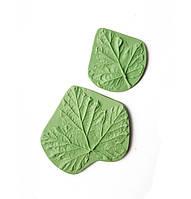 """Молд (молды) Набор 2 шт Листья """"Смородины"""" для Фоамирана, полимерной глины"""