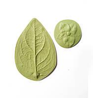 "Молд (молды) Набор 2 шт Лист+чашелистик ""Гиперикума"" для Фоамирана, полимерной глины, фото 1"