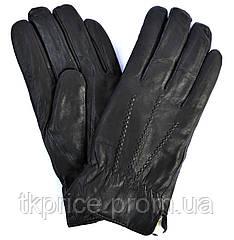 Мужские кожаные перчатки на натуральной овчинке
