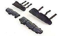 Комплект мотозащиты (колено, голень + предплечье, локоть) 4шт FOX M-6337 (пластик, PL, черный) Распродажа!