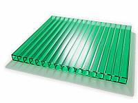 Поликарбонат сотовый 6х2100х6000 мм  6 мм зелений