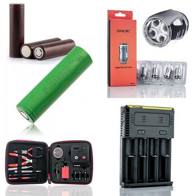 Комплектующие и аксессуары для электронных сигарет