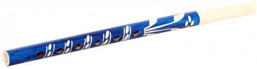 Дудочка резная (синяя), 32 см