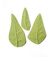 """Молд (молды) Набор 3 шт Листья (лист) """"Мак"""" (Мака) для Фоамирана, полимерной глины"""