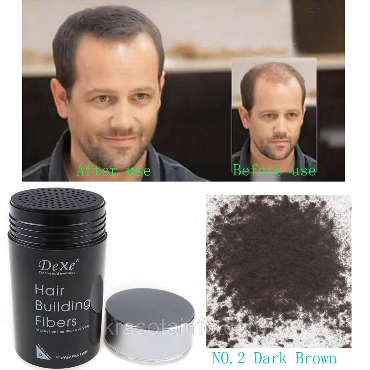 Загуститель волос DeXe кератиновые строительные микроволокна Light Blond № 6
