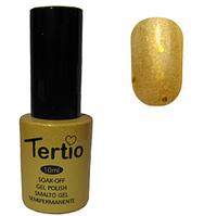 Гель-лак №190 (насыщеный золотистый с крупными блестками) 10 мл Tertio