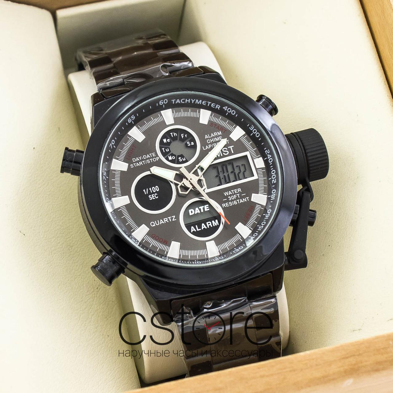 8d2c4d73de14 ... Мужские армейские наручные часы Amst black black am3003 на браслете  (07482), ...