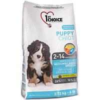 Бонус 15% 1st Choice Puppy Medium and Large Breeds (Фёст Чойс Паппи Медиум энд Лардж Бридс) Корм для щенков средних и крупных пород   2,72 кг