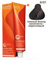 6/37 Темный блондин золотисто-коричневый Londacolor demi permanent 60 мл