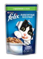 Felix Fantastic аппетитные кусочки с кроликом 100 гр