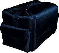 Чемодан большой для мастера маникюра черный (тканевый) TM YRE