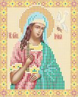Атлас с нанесенным рисунком «Святая Ирина»