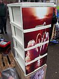 """Комод на 4 ящика с декором """"лебеди """" Алеана, фото 2"""